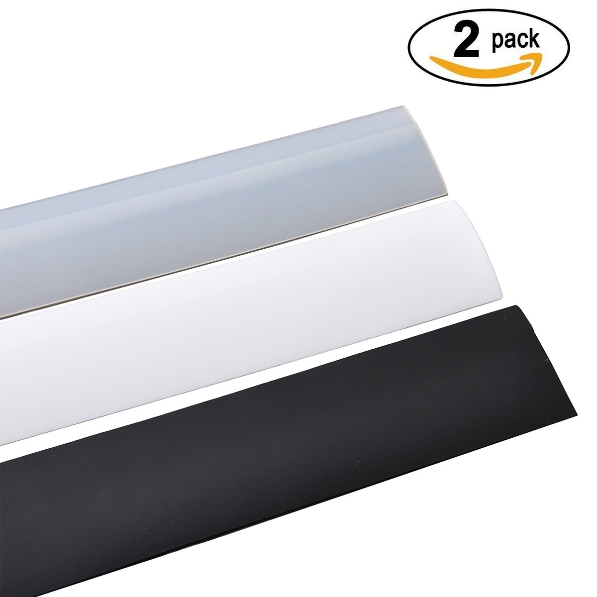 Premium Counter Gap Cover Set By Penacio - 2 Silicone Oven Gap Spacers - Suitable For Kitchen Counters & Appliances - Heavy Duty & Heat Resistant - BPA Free & FDA Approved (Clear)