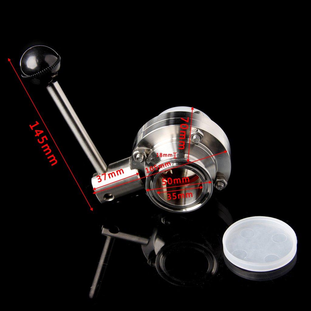 YUYUE21 1pc soupape /à Disque /à Chargement Rapide 38mm en Acier Inoxydable 304