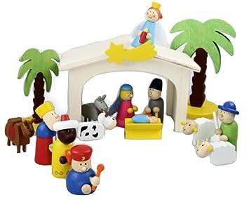 Weihnachtskrippe Für Kinder.Inware 22094 Weihnachtskrippe Aus Holz