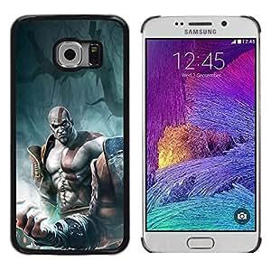 LECELL -- Funda protectora / Cubierta / Piel For Samsung Galaxy S6 EDGE SM-G925 -- God War Warrior --