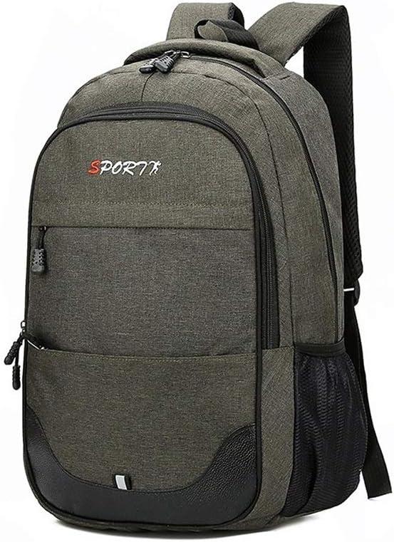 Color : Green, Size : L LCHAO Travel Backpack Backpack Men Outdoor Travel Backpack Computer Shoulder Bag