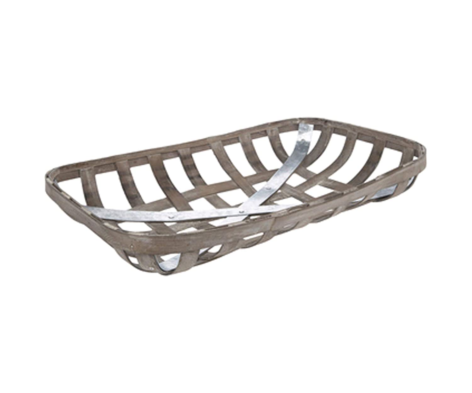 """Tobacco Basket Small 20/"""" NEW Whitewashed Tobacco Basket Country decor"""