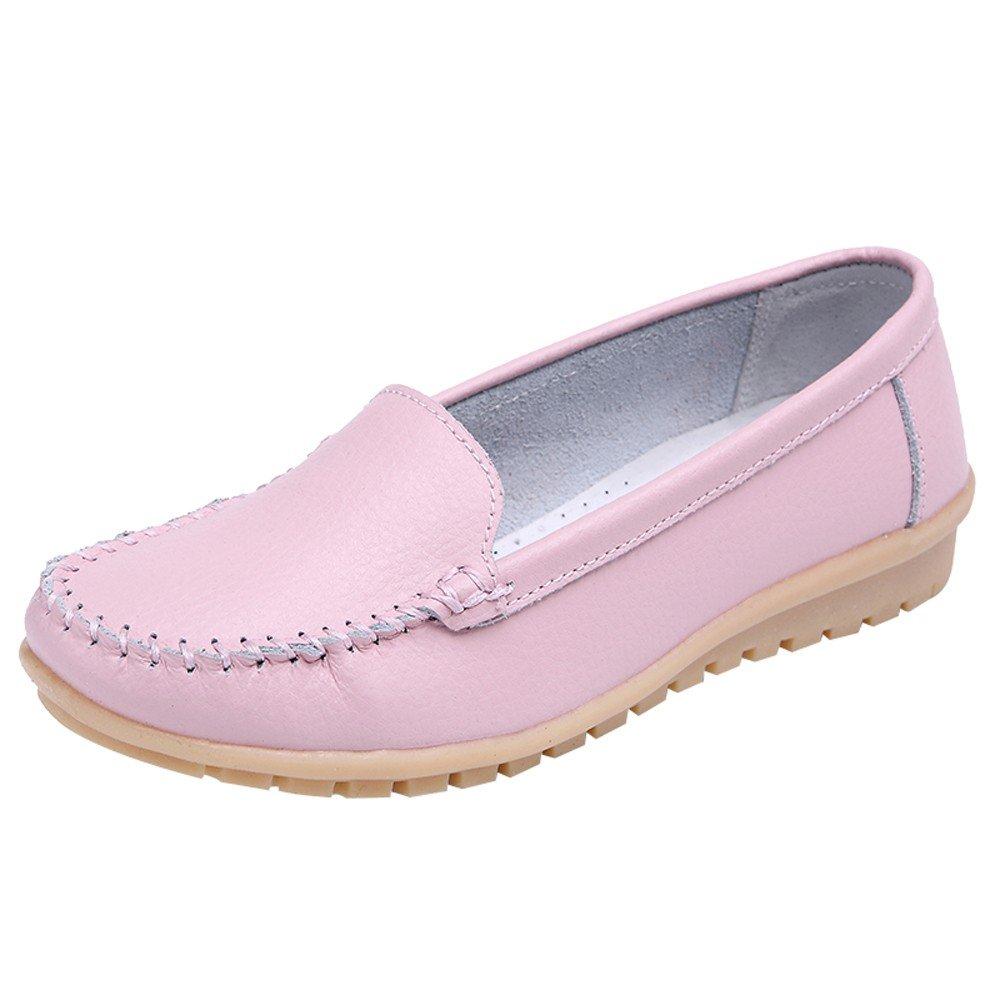 Zapatos planos de mujer,Sonnena Zapatos de cuero genuino Mocasines Slip On Shoes Zapatos todas las estaciones: Amazon.es: Hogar
