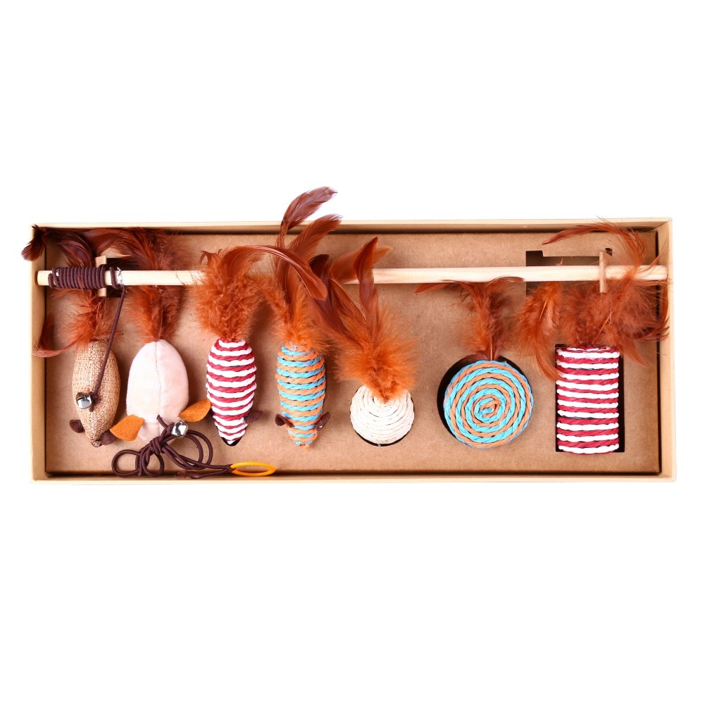 Cat Toys Collection in Gift Box,Homedeco Pet Cat Toys Variety Pack Interactive Toys for Cats