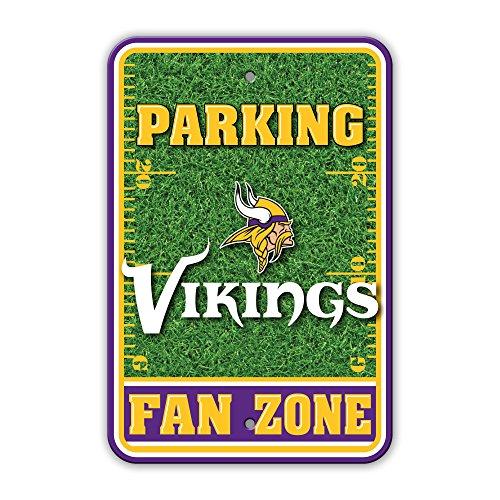 Vikings Sign Parking Minnesota (NFL Minnesota Vikings Unisex NFL Plastic Parking Sign - Field Zone, Yellow, One Size)