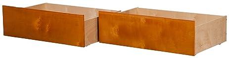 Atlantic Furniture E 66837 Urban Twin/Full Bed Drawers,Caramel Latte