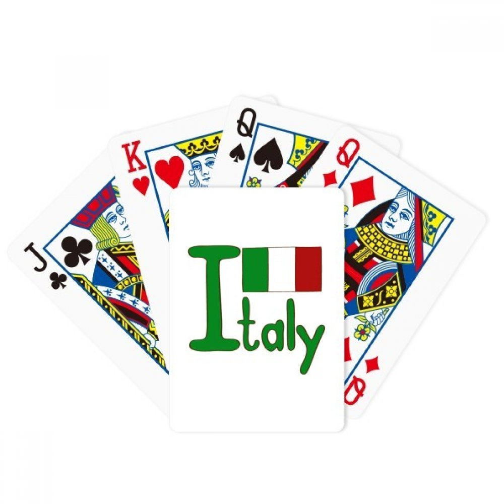 Italy National Flag Green Pattern Poker Playing Card Tabletop Board Game Gift