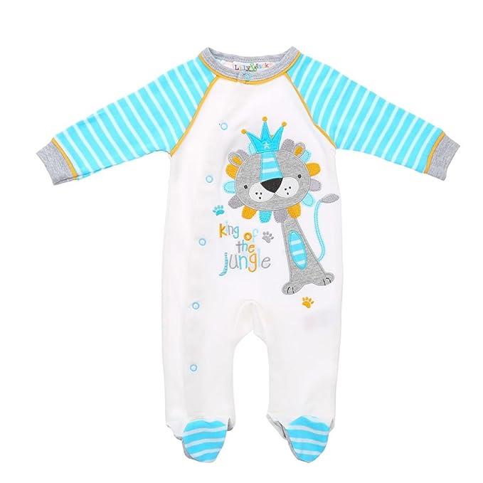 Ital-Design - Pelele - para bebé niño blanco y azul 74: Amazon.es: Ropa y accesorios