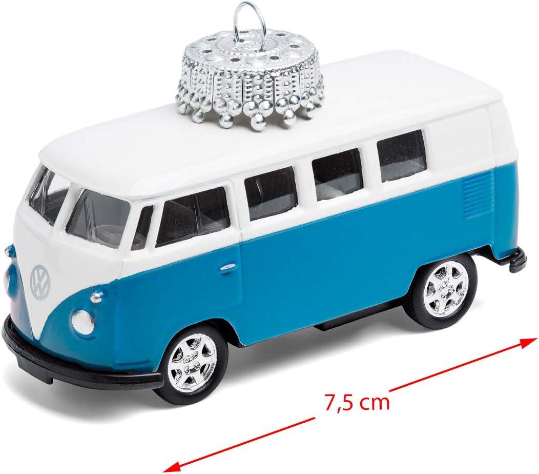 corpus delicti Christmas Tree Decoration VW Bus T1 Bulli Metal 1:87 blue