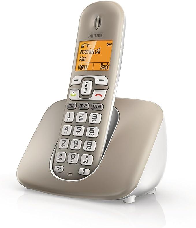 Philips XL3901S - Teléfono fijo digital (inalámbrico, pantalla LCD, identificador de llamadas), plateado: Amazon.es: Electrónica