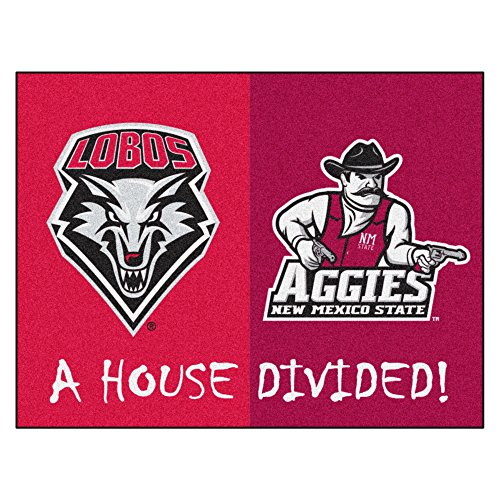 NCAA House Divided - New Mexico/New Mexico State House Divided Non-Skid Mat Rectangular Area Rug