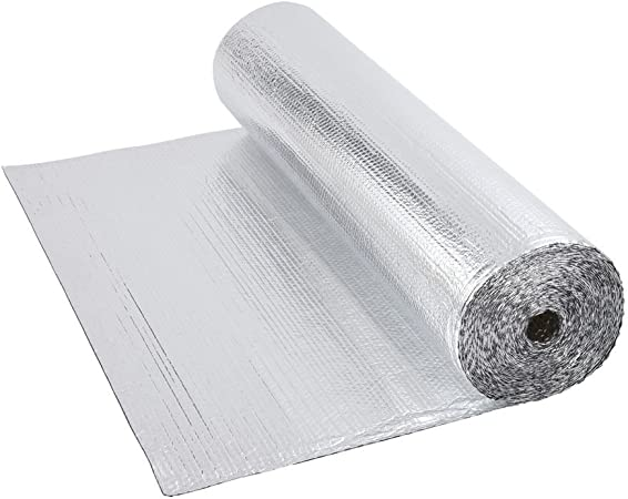 Biard Double Aluminium Single Layer Bubble Wrap Foil Insulation Roll 1 2m X 10m 12m For Use With Loft Floor Wall Motorhome Boat Shed 200g Per M Amazon Co Uk Diy