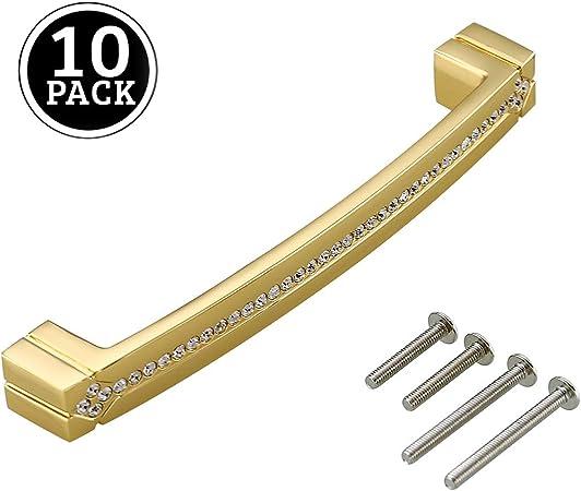 Basics tradicional Plata envejecidado Paquete de 10 3,17 cm de di/ámetro con dise/ño de aro superior Pomo de armario