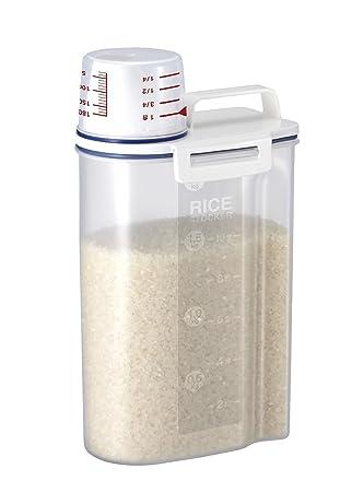 Dealglad® 2 kg portátil de plástico caja de almacenamiento de alimentos grano harina de cereales