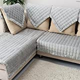 OstepDecor Multi-size Pet Dog Couch Rectangular Winter Quilted Furniture Protectors Covers for Sofa, Loveseat | ONE PIECE | Backing and Armrest Sold Separately | Grey 28