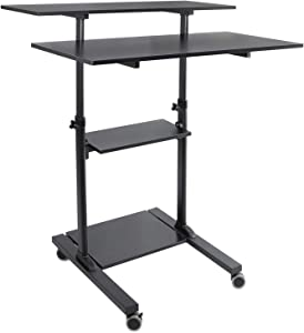 """Mount-It! Wide Mobile Stand Up Desk 