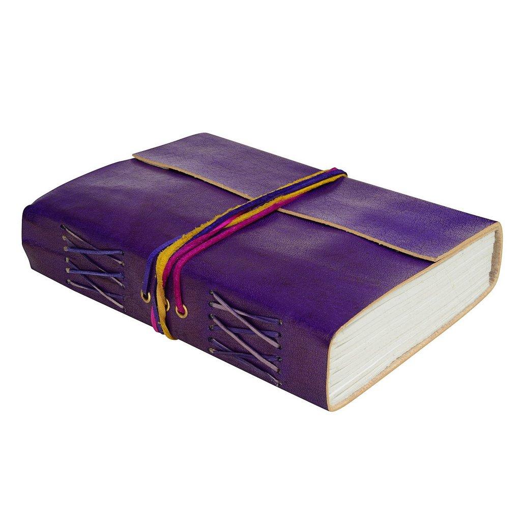 En cuir bleu bleuet 3-string Journal en cuir