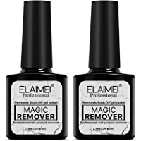Magic Nail Polish Remover, Professional Removes Soak-Off Gel Nail Polish In 3-5 Minutes, Easily & Quickly, Don't Hurt Your Nails-7.3ml (2pcs)