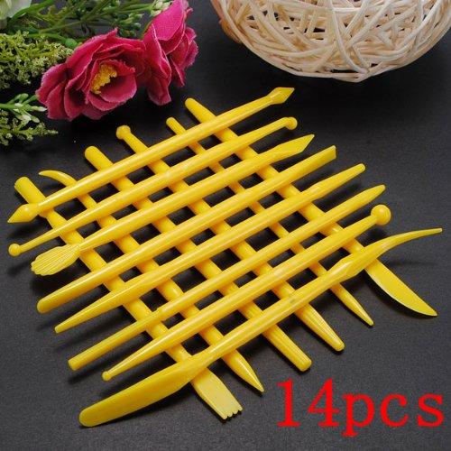 14Pcs Fondant Cake Decorating Tools Flower Cutters