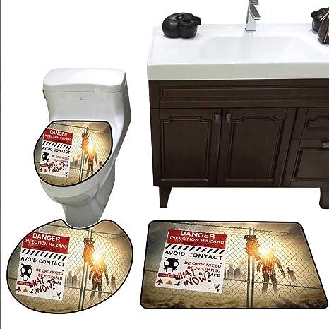 . Amazon com  Zombie Decor 3 Piece Toilet mat Set Dead Man Walking