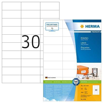 300 Bögen Etiketten 70 x 36 mm je 24 Sticker auf DIN A4 selbstklebend weiß