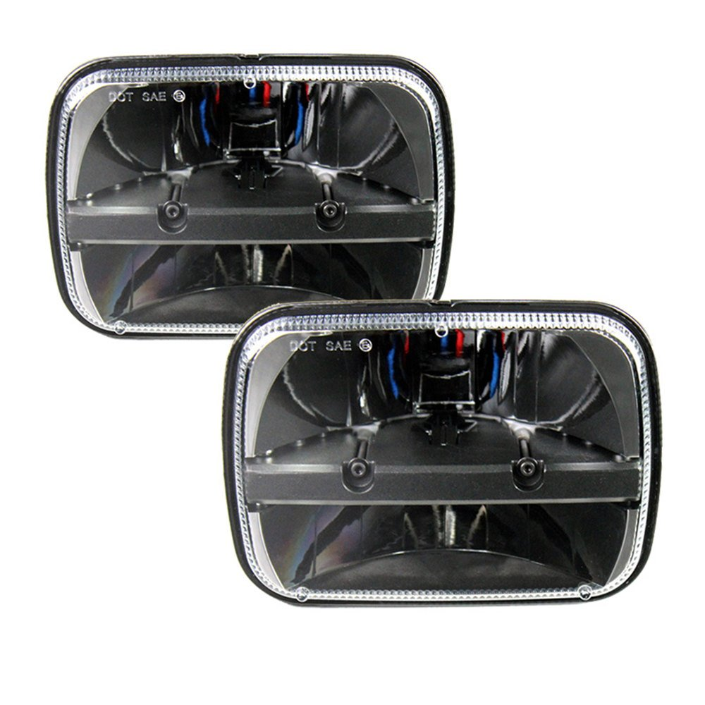 2 Pcs 5X7 7X6 Inch Rectangular Led Headlights Beam Hi//Lo Headlamp with DRL Turn Signal for Jeep Wrangler YJ Cherokee XJ Trucks 4x4 Offroad H6054