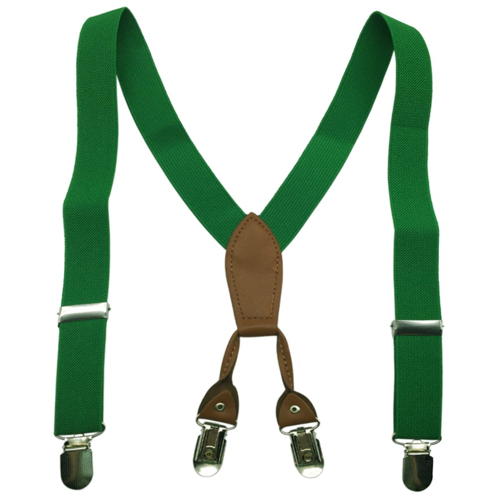 Boys Girls Children Kids Baby Elastic Adjustable 1 inch Suspenders Multi Color Braces