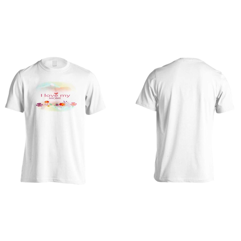 I Love My Mom Mother Novelty Men's T-Shirt Tee o14m