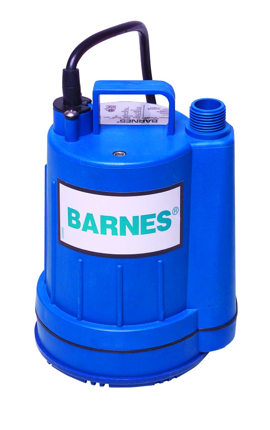 Barnes 113824 Model UT17 Submersible Sump and Utility Pump, 1/6 hp, 120V, 1 Phase, 3/4'' Vertical Discharge, 16 GPM, 23' Head, Manual, 15' Cord by Barnes (Image #1)