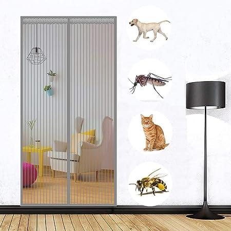 MODKOY Puerta Corredera Mosquitera Gris 215x225cm, para Protección contra Insectos, Mosquitos Fácil de Instalar con Durable con Malla Super Fina para Puerta del Balcón Puertas: Amazon.es: Hogar