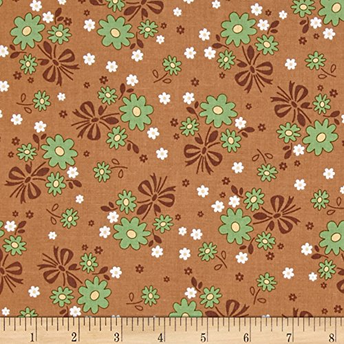 Riley Blake Calico Days Main Floral Nutmeg Fabric By The (Brown Calico Fabric)