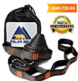 Package Includes: - 2 x POLARBEAR hammock tree straps (with 16 loops each) - 2 x Locking Carabineers - 1 x Carry Bag Specifications: - Material : No Stretch Polyester webbing material, triple Power Stitched  - Size: 1 inches wide x 10 Feet long each ...