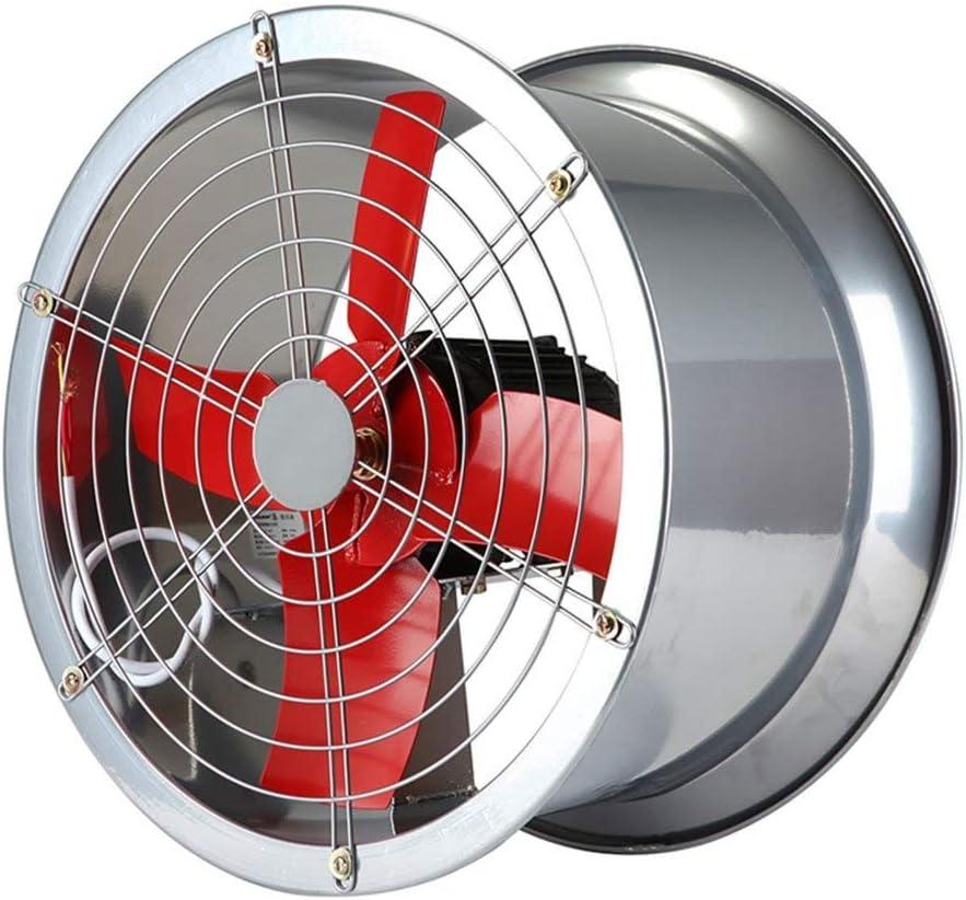 YINUO Fans Ventilador eléctrico Comercial Cilindro metálico Respirador Industrial/Humo de Cocina Extractor/Ventilador axial/Ventilador de Gran Potencia de Gran Volumen de Aire/Campana Simple A: Amazon.es: Hogar