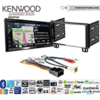 Volunteer Audio Kenwood DNX574S Double Din Radio Install Kit with GPS Navigation Apple CarPlay Android Auto Fits 2002-2005 Explorer, 2001-2004 Mustang