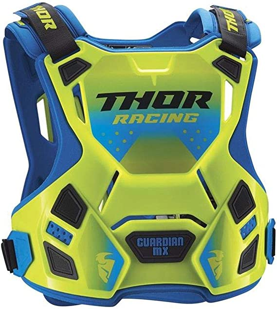 Thor Guardian Mx Roost Deflector Motocross Brustpanzer Spring 2018 Flou Gr N Blau Sport Freizeit