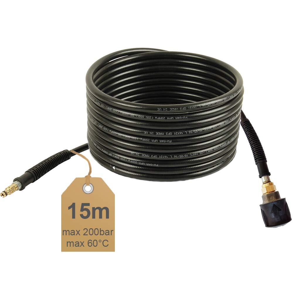 NW 6x1 Quick Connect geeignet f/ür K/ärcher Hochdruckreiniger Hochdruckschlauch-Verl/ängerung 60/°C 15m 200bar