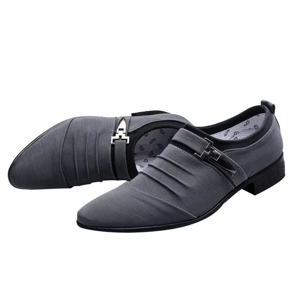 Zapatos de Vestir Cordones Calzado Boda Negocios Moda Zapatos Oxford Hombre Uniforme Negro Azul Gris 38-47: Amazon.es: Zapatos y complementos