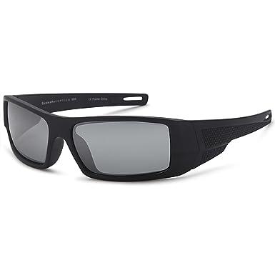 Gamma Ray polarizado Wrap Around deporte gafas de sol con resistente nailon marco - elegir su color, Negro marco Grey Lens: Amazon.es: Deportes y aire libre