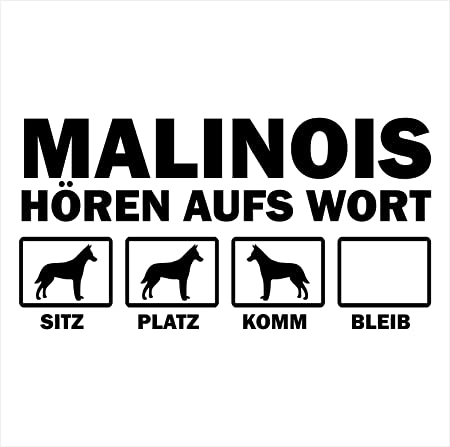 Siviwonder Auto Aufkleber Belgian Malinois Hunde Hören Aufs Wort Hundeaufkleber 30cm Black Auto