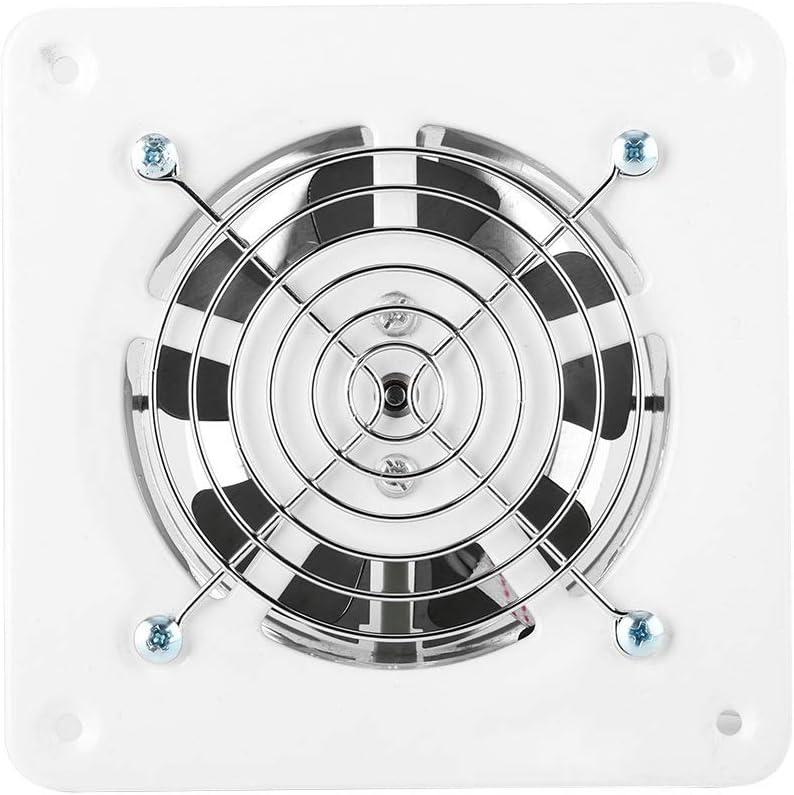 Solomi Ventilador de extracción - Ventilación de Aire Ventilación de Pared Tipo de Ventana silenciosa para baño Garaje Cocina 25W 220V Blanco
