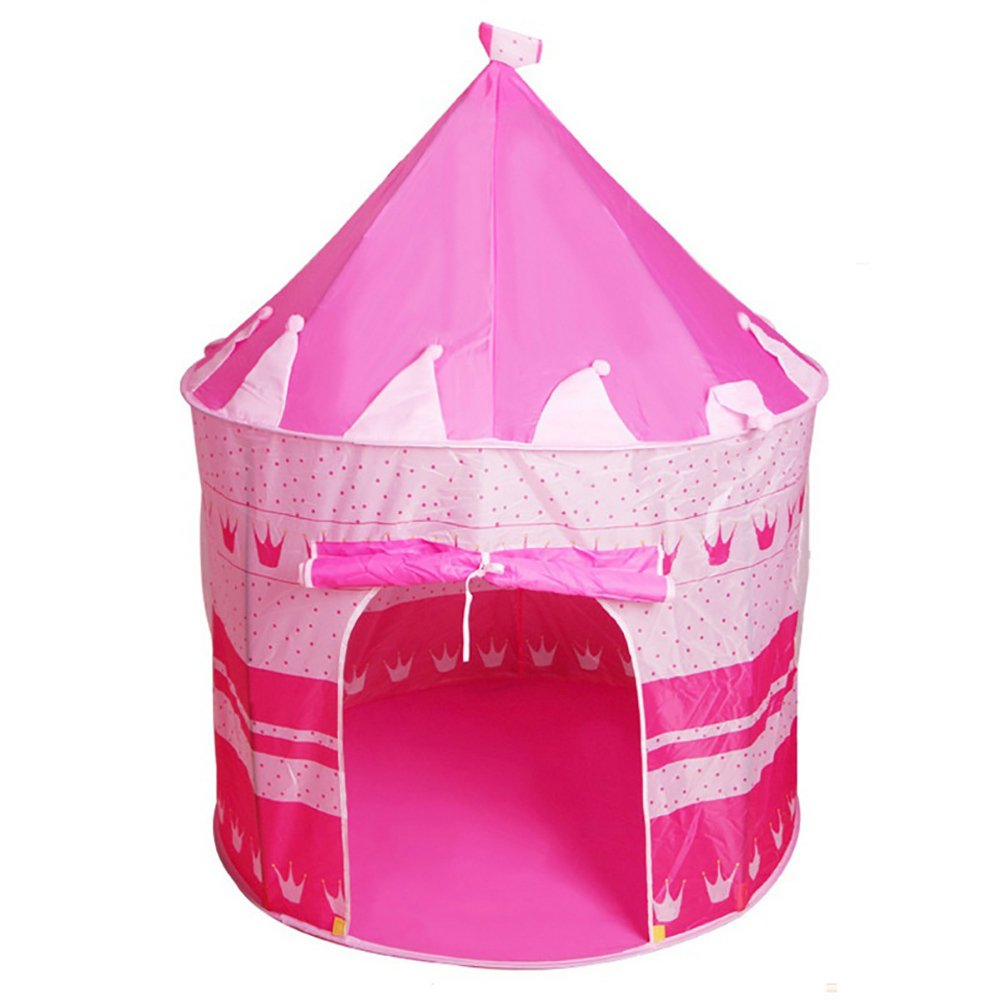 bjduck99 Kids Outdoor Indoor Portable Foldable Princess Castle Tent Play House Toy Gifts - Pink