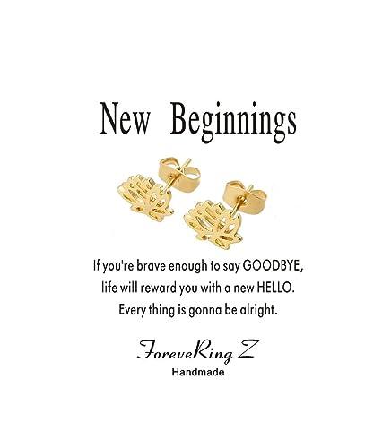 Amazon forevering z message card new beginnings gift dainty amazon forevering z message card new beginnings gift dainty lotus earrings stud flower earrings woman jewelry jewelry mightylinksfo