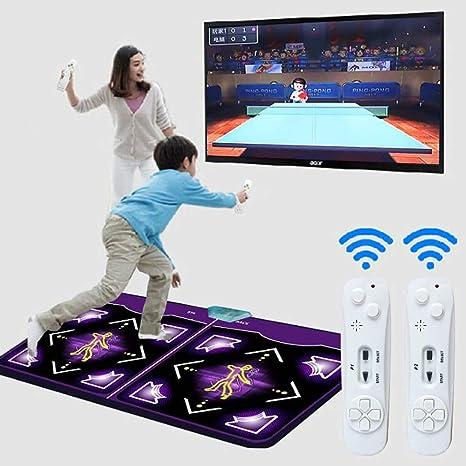 QinnLiuu Doble tapete de Baile, Resistente al Desgaste Pad de Baile Plegable Niños Dance Revolution Mat Musical Equipo de TV HD Computadora de Doble Uso, 166x93 cm: Amazon.es: Hogar