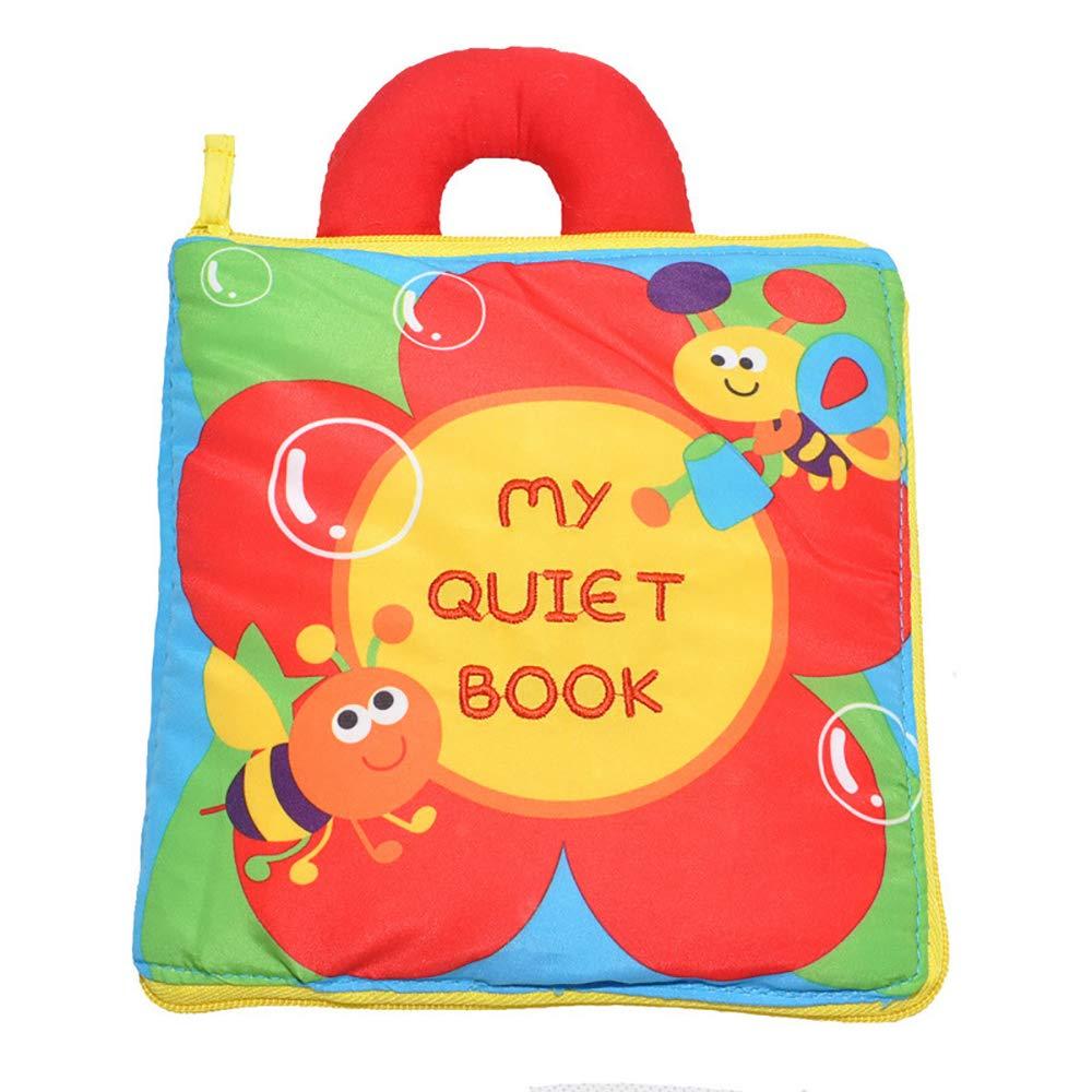 forepin Tissu Livre Bébé Jouets éducatifs Début Développement Livres Non Toxique Chiffon Lavable pour Tout-Petits Infantile Eveloppement Intellectuel
