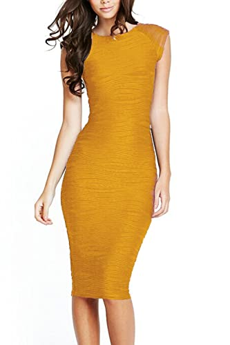 Viwenni Women's Casual Boat neck Slim Bodycon Business Party Work Pencil Dress