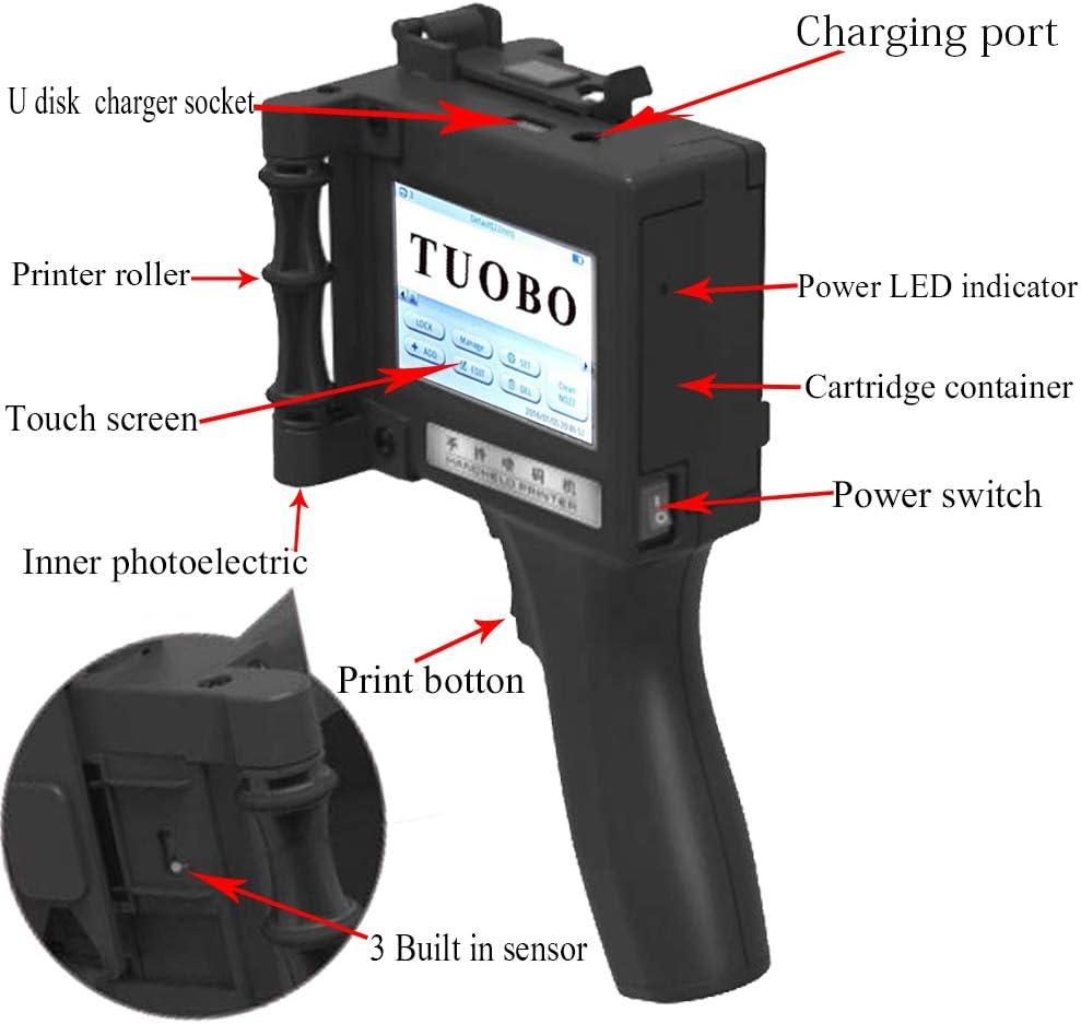 Yellow Tuobo Original Handheld Ink Cartridge Replacement for Handheld Inkjet Printer Black,Red,Yellow,Blue,Green,White