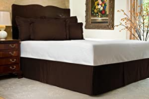 Bedskirt 700 Tc Brown Striped Short Queen Size With 20