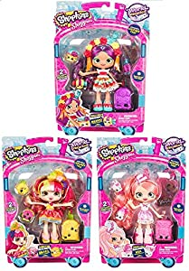 Shopkins Wave 3 World Vacation Doll Bundle Donatina Visits Brazil Pinkie Cola America And Rosa Pinata Mexico