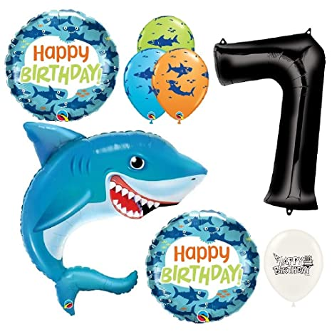 SHARK BALLOON 36 HUGE SMILING SHARK QUALATEX FOIL BALLOON Party Supplies Celebrations & Occasions
