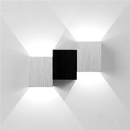 ICOCO Aplique Lámpara LED de Pared Moderna, Interior de Puro Aluminio, 2 de LED